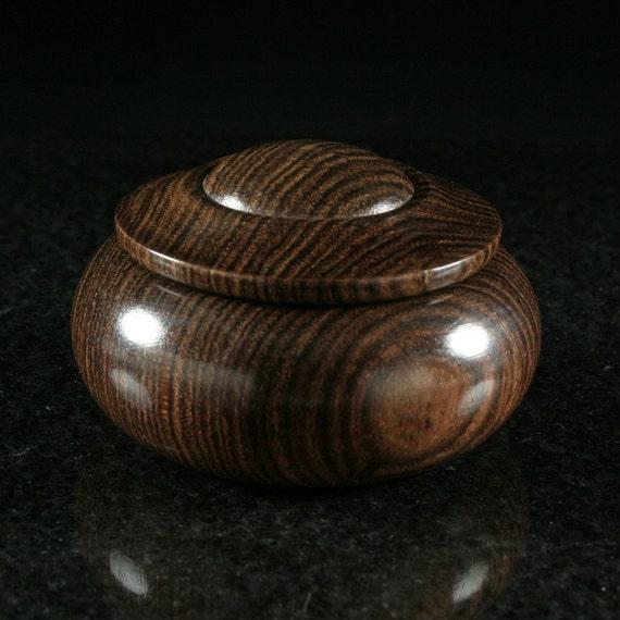Bocote lidded vessel