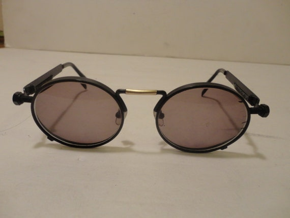 Vintage Stussy Round Metal Sunglasses FRAMES ONLY Spring Arms Steampunk Avant Garde