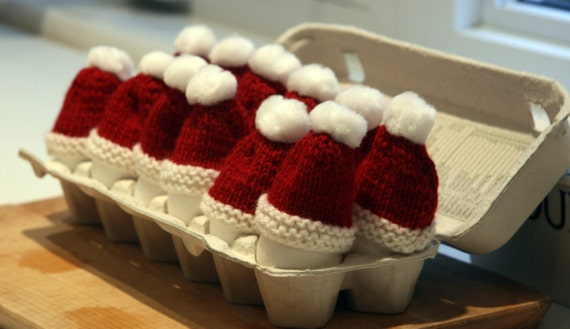 Set of 2 Santa Hat Egg Cozies