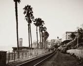 Coastal Train Tracks, California beach photography, home decor 11 x 14 photographic print
