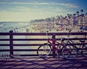 Lazy Summer Days, Oceanside Pier California, beach and summer photography, 5 x 7 photographic print