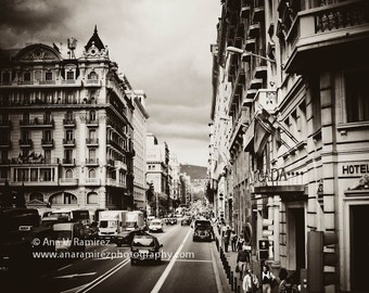 Barcelona Street Life, Spain architecture photography 8 x 10 photographic print