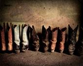 Cowboy Boots in Barn - 8x10 Fine Art Print