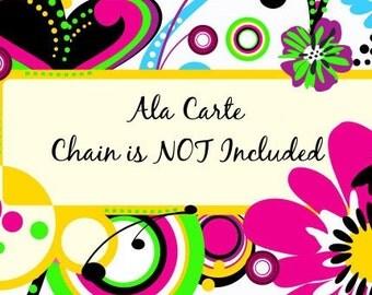 Pink Laugh Daisy Scrabble Tile Necklace S5-23