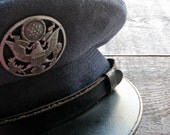 vintage air force uniform hat : wool enlisted mans military armed forces by 24pont