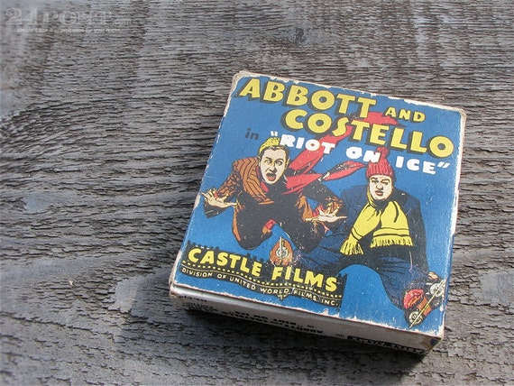 vintage 16mm digest film : Abbott and Costello Riot on Ice with box by 24pont