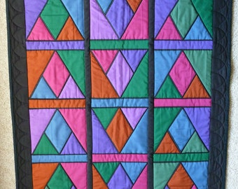 Stained Glass Look Quilted Wall Hanging