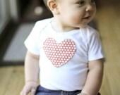 Red Heart Long Sleeve Onesie