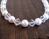 Crystal and Pearl Swarovski Bridal Necklace