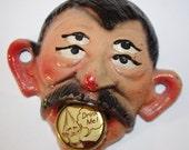 Keep it weird -  Vintage boozy face bottle opener
