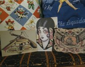 Set of 5 Gypsy Tattoo Flash Postcards RESERVED FOR REBECCA
