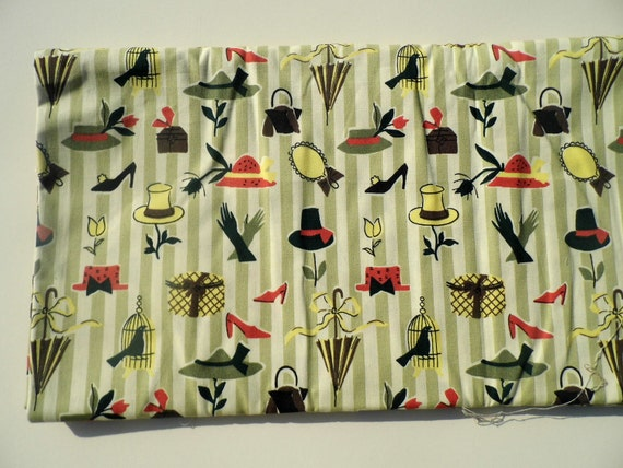 Vintage Fabric, Mid Century Fabric, Suburban Fabrics, 5 Yards of Fabric, Retro Fabric, New Old Stock, Mad Men