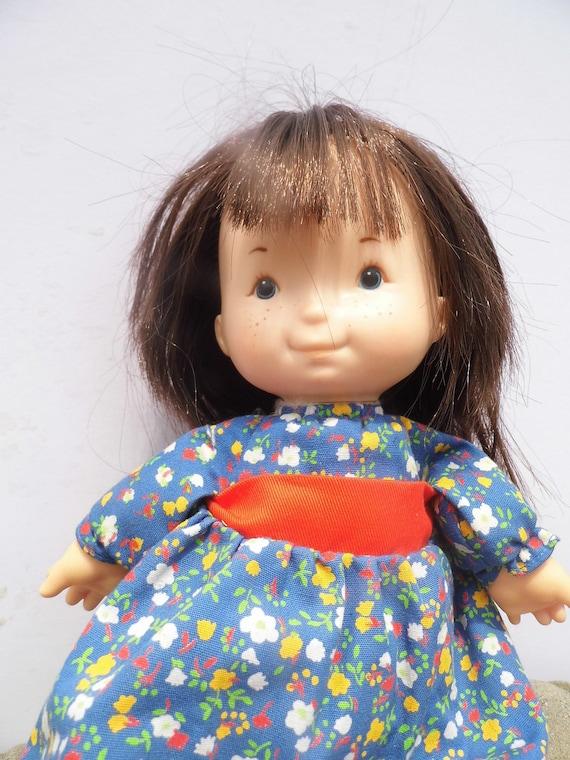 Vintage Doll, Vintage Little Girl Doll, Lapsitter Doll, Vintage Cloth Doll