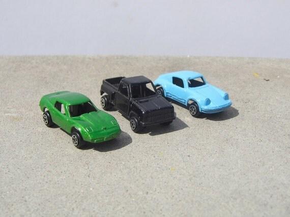 Vintage Tootsie Cars, Porsche Tootsie Car, Vintage Chevy Truck, Vintage Corvette