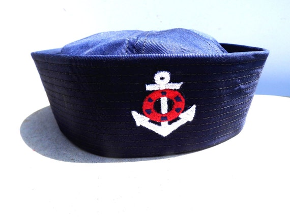 Vintage Sailor Hat, Vintage Toddler Hat, Nautical Attire for Kids