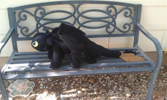 Plushie Toothless Night Fury Dragon - for nanerJoy