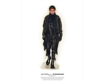 He Wears It 011 - Guan Yunchang wears Ann Demeulemeester   (limited edition)