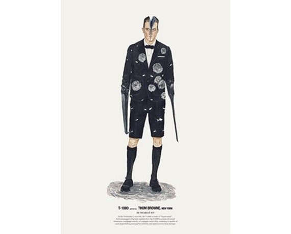 He Wears It 019 - T-1000 wears Thom Browne. New York