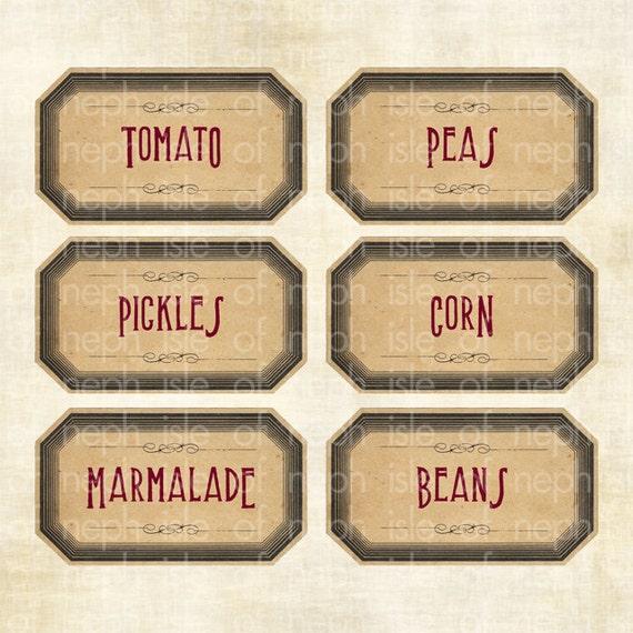 Items similar to 6 Vintage / Victorian / Medieval Jar / Food ...
