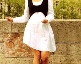 Women wool vest, button vest, women vest, Wool balero, Short wool jacket, handmade