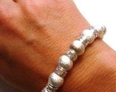 Shimmery Stardust Beads with AB Crystal Rondelles Bracelet and Ring (One Size Fits All)