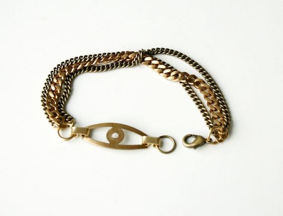 JANUARY SALE-----The chained eye bracelet