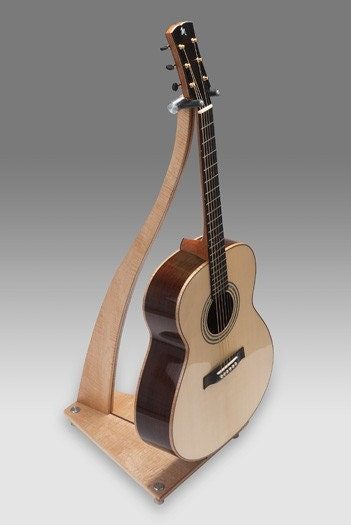 Guitar Stand Designs : Sm design handcrafted wood guitar stand