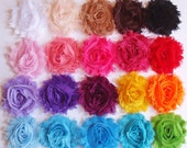 Shabby Chiffon Flower Hair Clips - Fabric Flower Hair Clip - Shabby Chic Flower - U Pick One - 40 Colors - SALE... Buy 3 Get 4th FREE