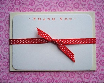Little Red Thank You Pack of 6 Notecards