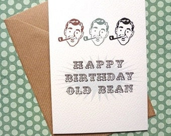 Happy Birthday Old Bean Card