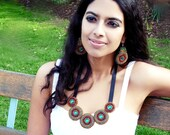 One of a Kind Bead Embroidered Luxury Necklace. Sigiriya .