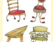 Chairs Greetings Card