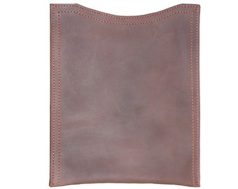 Rustic Leather iPad Sleeve Case - Rich Chocolate Brown