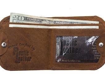 Leather Cab Wallet, Classic Design - Buckskin Tan