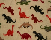 Dinosaurs - Cloth Wipes / Napkins - Set of 5 - Double Flannel