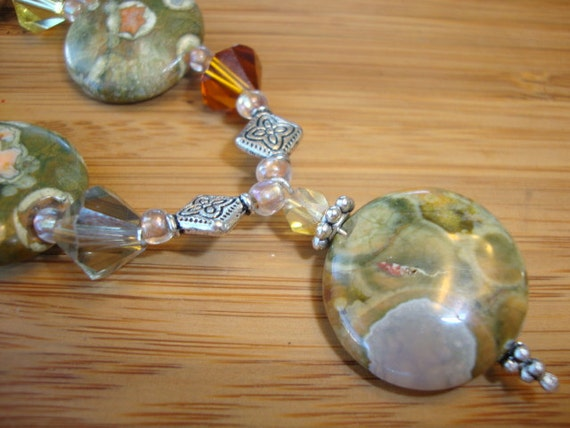 Rainbow Jasper Pendant Necklace - Mother Nature Gemstones