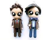 10th and 11th Dr. Who 2.0 - Miniature Sculptures - Charm Necklaces