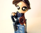 Reserved - 11th Dr. Who vs 4.0 - OOAK Miniature Sculpture - Charm Necklaces