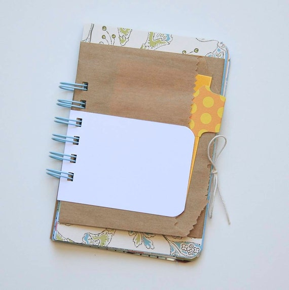 Mixed Media Notebook . Journal . Mini Book . Diary // Ephemera . Vintage Dictionary Book Pages // 4x6