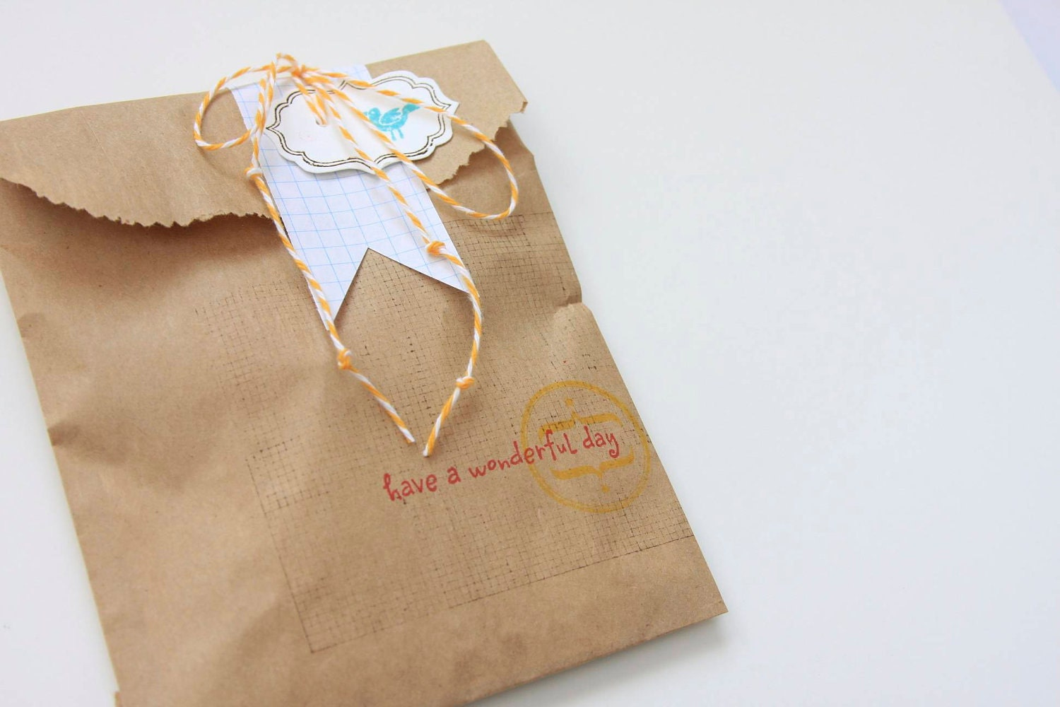 Wedding Paper Gift Bags Wholesale : 25 5 8 Brown Kraft Flat Merchandise Stampable by ILoveItAll