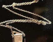 Vintage 67' Upcycled Emerald Encrusted Fender Tuner Casing Necklace