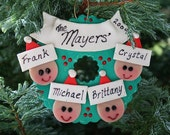 Family Wreath Ornament - VirtuosityClay