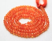 14 Inches - Orange Carnelian Faceted Rondelles Beads - 3.5 MM - J-E000470