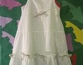 RESERVED for Renee Eppler Only  Size 5 White Cotton Sun Dress