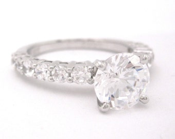 Round cut diamond engagement ring 1.95ctw