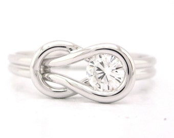 Round cut diamond engagement ring solitaire 0.50ctw