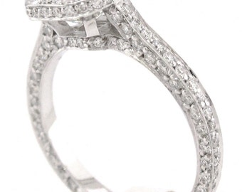 asscher cut diamond bezel engagement ring 2.57ctw