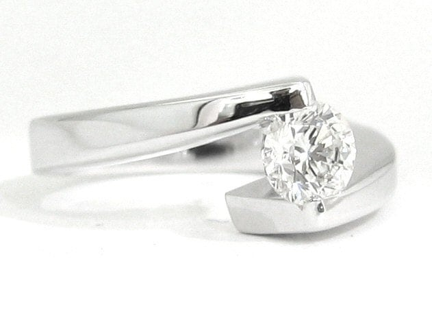 Tension Rings Engagement on Round Cut Diamond Engagement Ring Tension Set 033ctw By Knrinc
