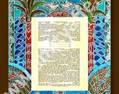 CUSTOM KETUBAH - Ketubbah - Ketubahs - Jewish wedding Contract -  Jewish Judaica Art Print  - Wedding vows - Hebrew and English - Palm Trees