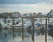 Boats in Grassy Sound Photo on canvas